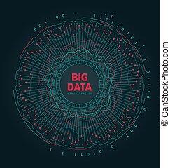 Abstract 3D Big Data Visualization. Futuristic Infographics Design