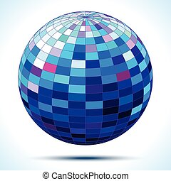 abstract 3d blue sphere