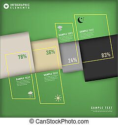 abstract 3d chart infographics