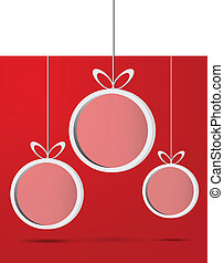 Abstract 3D Christmas balls background.