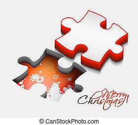 3d christmas puzzle shape