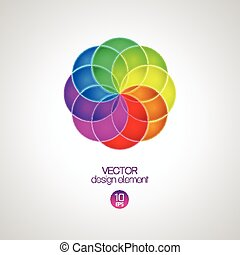 3d circle design element. Vector illustration