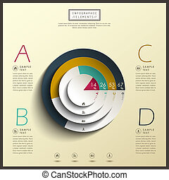abstract, 3d, cirkeldiagram, infographics