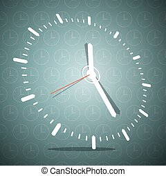 Abstract 3D Clock Face Vector Illustration on Blue Background