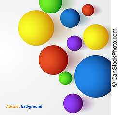 Abstract 3D colorful spheric background