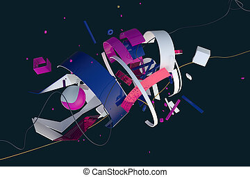 abstract 3D composition