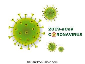 Abstract 3d Coronavirus background.