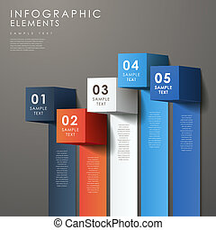 abstract 3d cube infographics