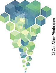 abstract 3d cube, vector background