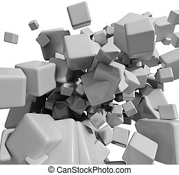 Abstract 3d cubes background.