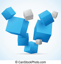 Abstract 3d cubes background
