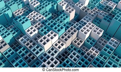 Abstract 3d Cubes. Geometric Background.