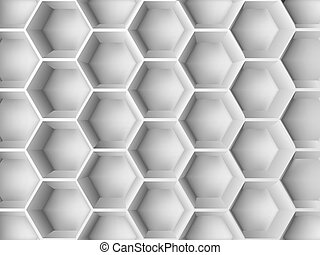 Abstract 3d decoration - Abstract decoration with 3d hexagon...