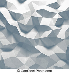 Abstract 3D faceted geometric pattern