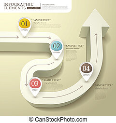 abstract 3d flow chart infographics - vector abstract flow...