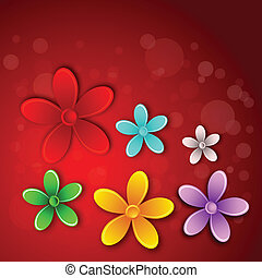 Abstract 3D flower card