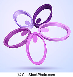 Abstract 3D flower