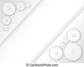 Abstract 3D gears background