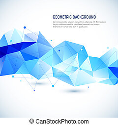 Abstract 3D geometric background. Vector illustration for...