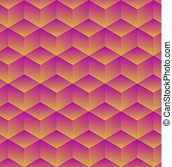 Abstract 3d geometric background with cubes. Vector illustration