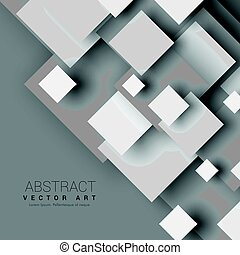 abstract 3d geometric shapes with shadow effect