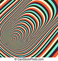 Abstract 3d geometrical background. Pattern with optical...
