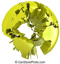 Abstract 3D Globe.