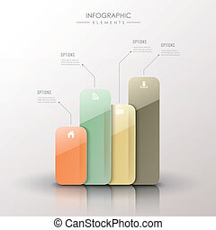 abstract, 3d, grafiek, infographics