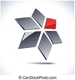 Abstract modern 3d geometric logo. Vector.