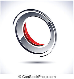 Abstract modern 3d round logo. Vector.