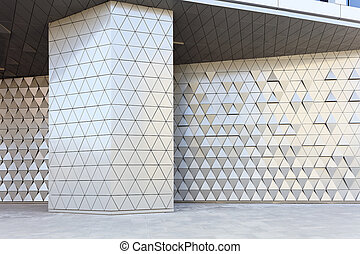 Abstract 3d illustration architectural pattern