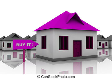 best house choice - abstract 3d illustration of best house...