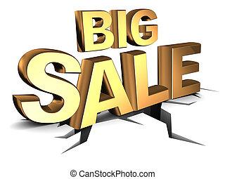 big sale - abstract 3d illustration of big sale sign, on...