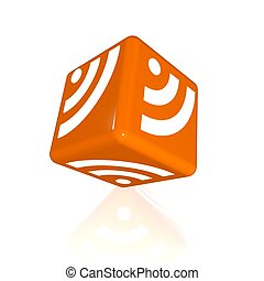 abstract 3d illustration of rss symbol or icon