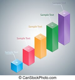 Abstract 3D Infographic Histogram