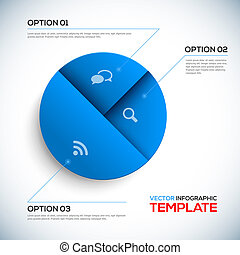 Abstract 3D Infographic template