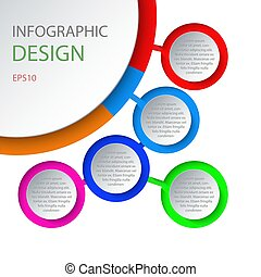 Abstract 3D infographic template with a five steps for success.
