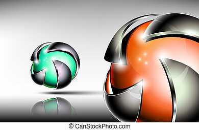 Abstract 3d logo design.