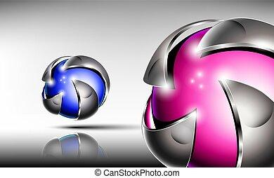 Abstract 3d logo design