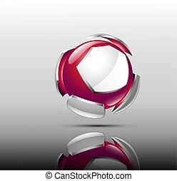 3d logo design. Sport