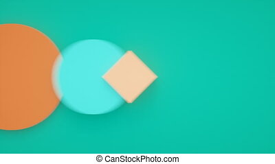 Abstract 3d motion graphic, background with moving geometric shapes. Modern animation, motion design, 4k seamless looped video