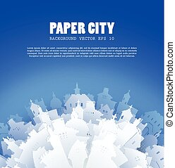 Abstract 3D Paper City background