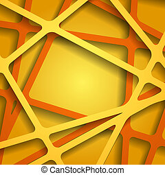 Abstract 3D Paper Graphics. Vector illustration