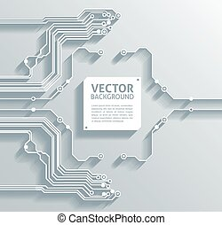 abstract 3d paper infographics vector background