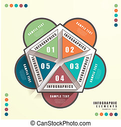 abstract 3d pengaton infographics