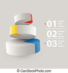 Abstract 3D pie chart Infographics.