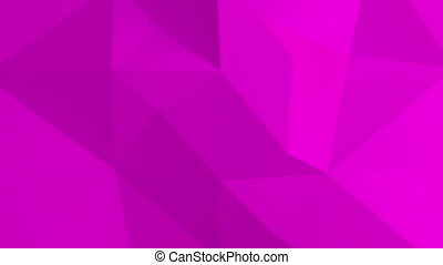 Abstract 3d pink background with polygonal pattern.