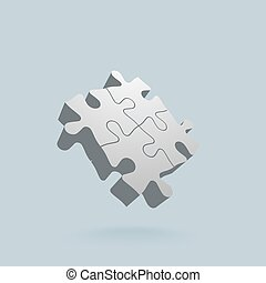 Abstract 3D puzzle design element