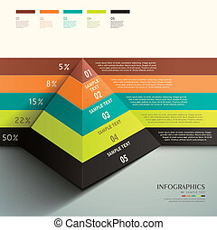 abstract 3d Pyramid infographics