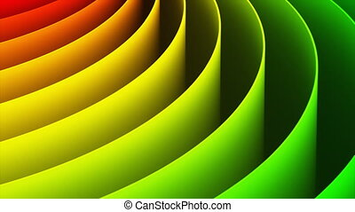 Abstract 3D rainbow spiral background - Creative abstract...